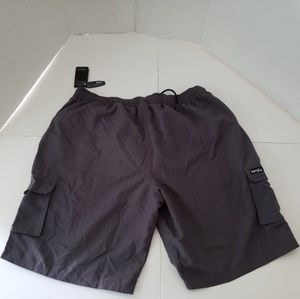 Tesla Mens Gray Athletic Shorts 2XL. Condition is
